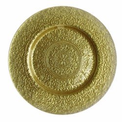 Alinea Glass Charger Plate-Gold