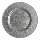 ChargeIt by Jay Alinea Silver Glass Charger Plate 13""