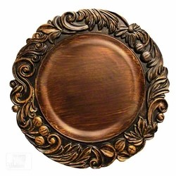 ChargeIt by Jay Aristocrat Brown Oak Acrylic Charger Plate 13""