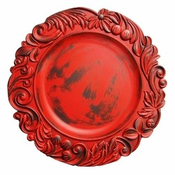 Aristocrat Red Oak Acrylic Charger
