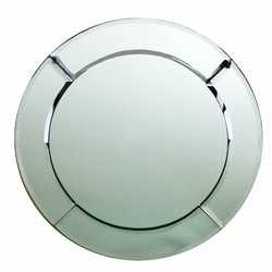 ChargeIt by Jay Beveled Mirror Glass Round Charger Plate 13""