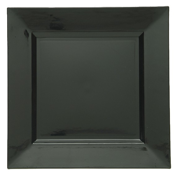 Black Lacquered Square Charger Plate