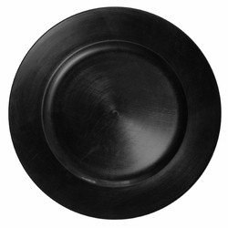 Black Round Melamine Charger Plate