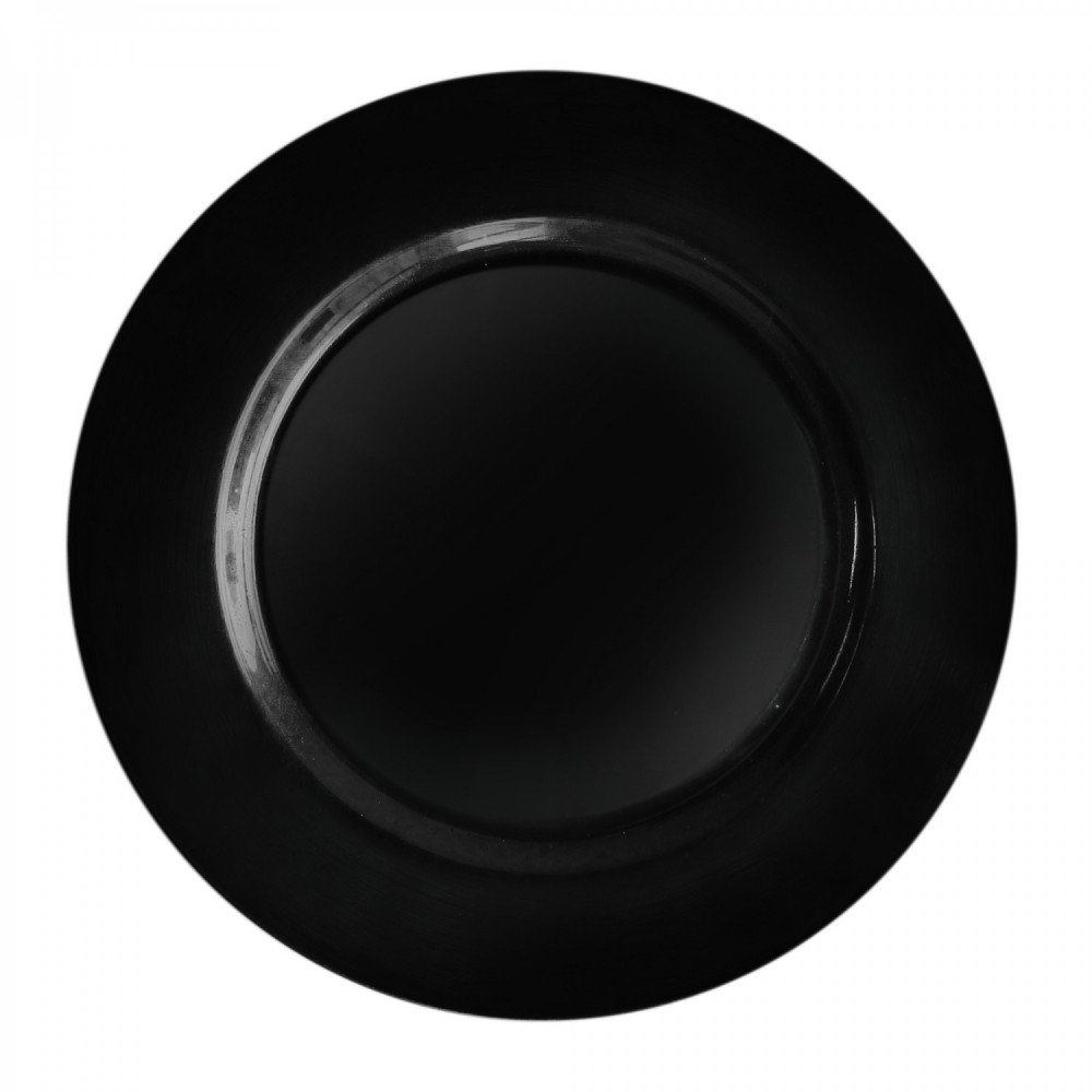 """Charget by Jay Round Black Melamine Charger Plate 13"""""""
