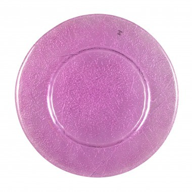 Ten Strawberry Street Botanica Amethyst Glass Charger Plate 13""