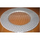 Braided Silver Glitter Glass Charger Plate