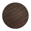 Brown Pine Faux Wood Round Charger