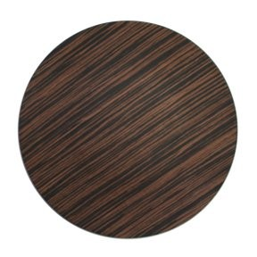 ChargeIt by Jay Brown Pine Faux Wood Round Charger Plate 13""