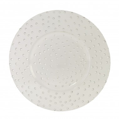 Bubble Clear Glass Charger Plate