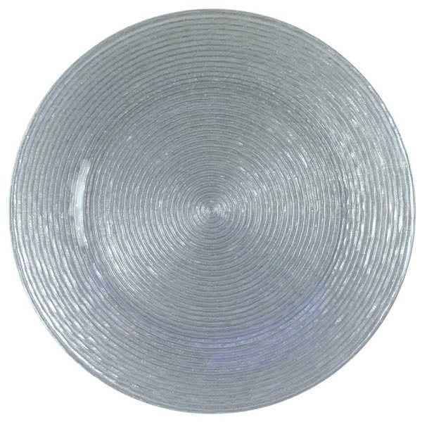 ChargeIt by Jay Silver Circus Glass Charger Plate 13""