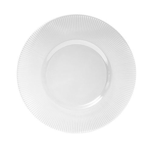 ChargeIt by Jay Clear Sunray Round Glass Charger Plate 13""