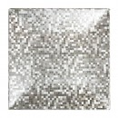 """ChargeIt by Jay Silver Mosaic Square Charger Plate 12"""""""