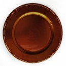 ChargeIt by Jay Copper Beaded Round Charger Plate 13""