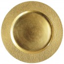 ChargeIt by Jay Gold Pebbled Round Melamine Charger Plate 13""