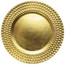 """ChargeIt by Jay Gold Tiled Round Melamine Charger Plate 13"""""""