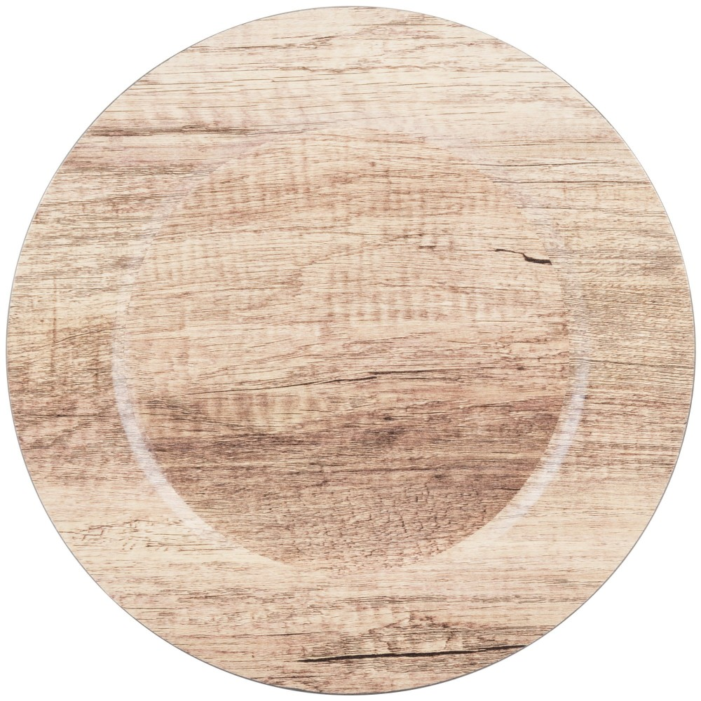 """ChargeIt by Jay Round Poplar Melamine Charger Plate 13"""""""