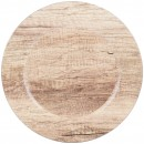 """Chargeit by Jay Poplar Round Melamine Charger Plate 13"""""""