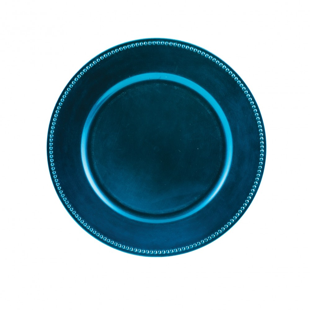ChargeIt by Jay Royal Blue Beaded Round Charger Plate 13""