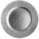 ChargeIt by Jay Silver Hammered Round Charger Plate 13""