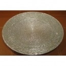 Circus Silver Glass Charger Plate