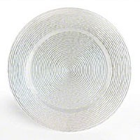 ChargeIt by Jay Circus Glass Charger Plate 13""