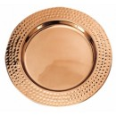 Decor Copper Hammered Rim Charger Plate
