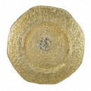 """Ten Strawberry Street Platinum Ombre Glass Charger Plate 13-1/4"""""""