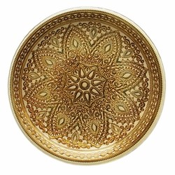 Divine Glass Charger Plate-Gold