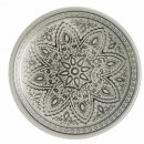 ChargeIt by Jay Divine Silver Glass Charger Plate 13""