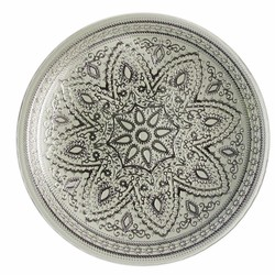 Divine Glass Charger Plate-Silver