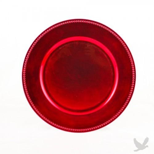 Fuchsia Beaded Acrylic Charger Plates