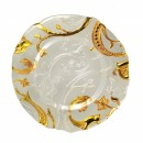 """Ten Strawberry Street Giardano Clear and Gold Glass Charger Plate 13-1/4"""""""