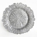 ChargeIt by Jay Glass Reef Silver Charger Plate 13""