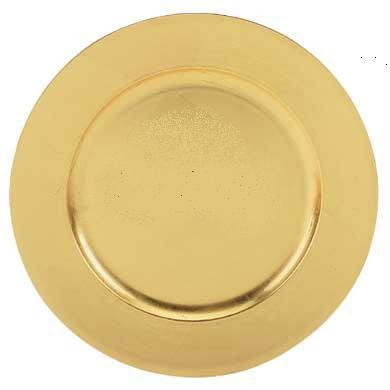 Gold Acrylic Round Charger Plates (4 Pack)