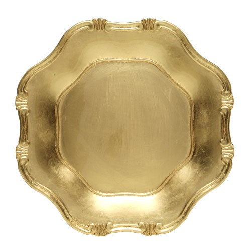 ChargeIt by Jay Gold Baroque Charger Plate 13""