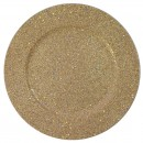 ChargeIt by Jay Gold Glitter and Stars Charger Plate 13""