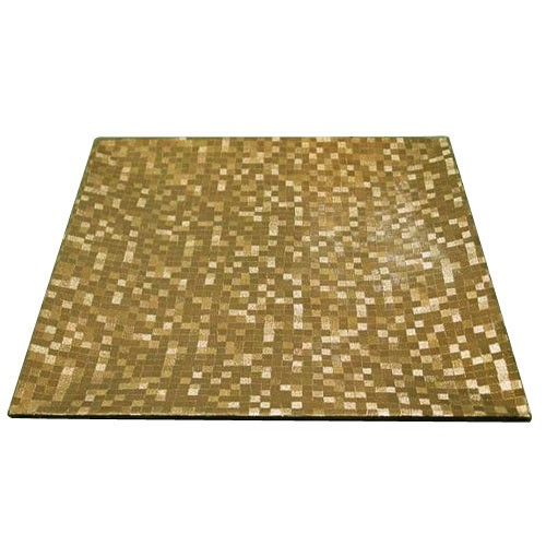 ChargeIt by Jay Gold Mosaic Square Acrylic Charger Plate 12""