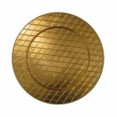 Gold Plaid Acrylic Charger Plate