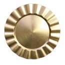 Gold Ruffled Lacquered Charger Plate