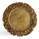 Jay Imports Aristocrat Antique Gold Charger Plate 14