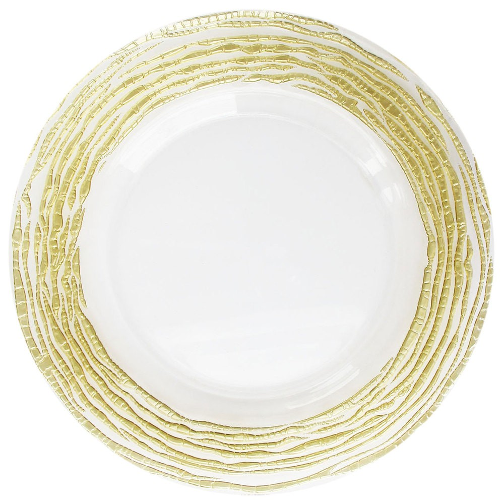 Jay Imports Arizona Clear/Gold Charger Plate 13