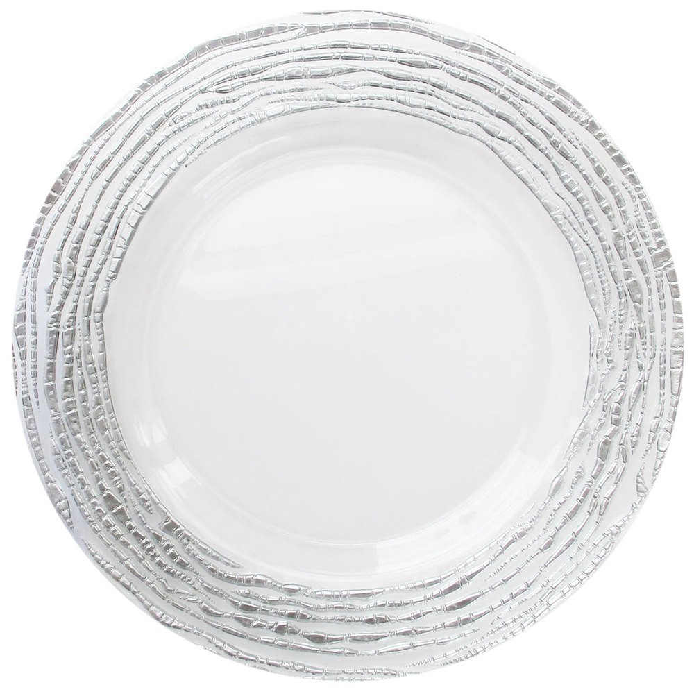 ChargeIt by Jay Arizona Silver Round Charger Plate 13""