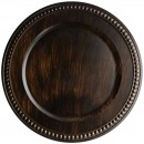 ChargeIt by Jay Beaded Antique Brown Charger Plate 14""