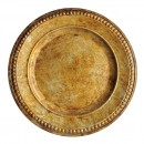 ChargeIt by Jay Gold Beaded Antique Charger Plate 14""