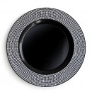 Jay Imports Black Diamond Charger Plate 13