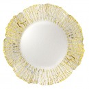 Jay Imports Deniz Gold Flower Charger Plate 12