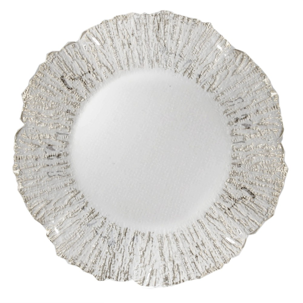 ChargeIt by Jay Deniz Silver Flower Charger Plate 12""