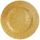 ChargeIt by Jay Glamour Gold Glass Charger Plate 13""