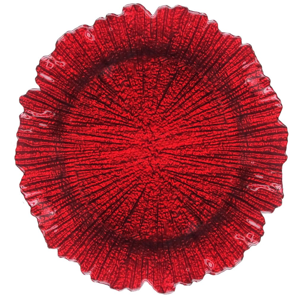 Jay Imports Reef Red Charger Plate 13.5