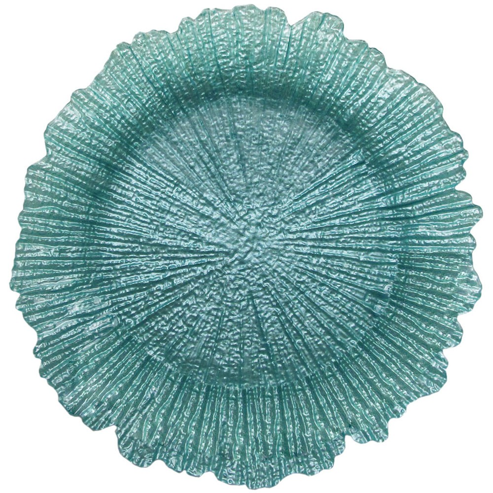 """ChargeIt by Jay Reef Turquoise Charger Plate 13"""""""